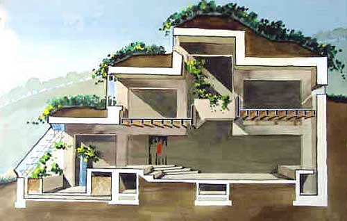 Earth sheltered homes and berm houses for Earthen home designs