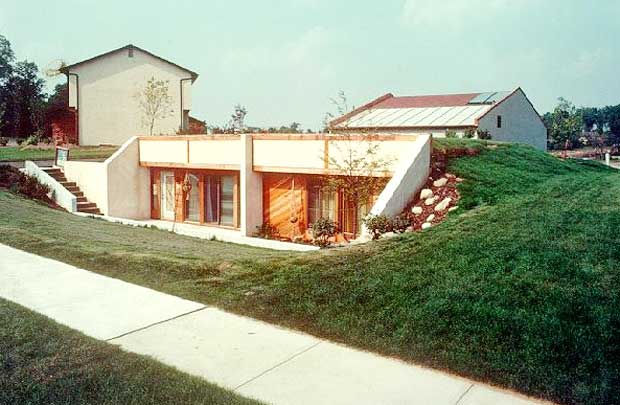 Earth berm homes designs for green living for In ground home designs