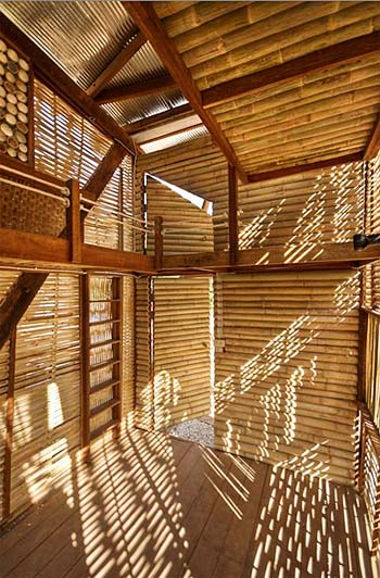 Nature Friendly Bamboo House Design: Bamboo Houses For Building Green